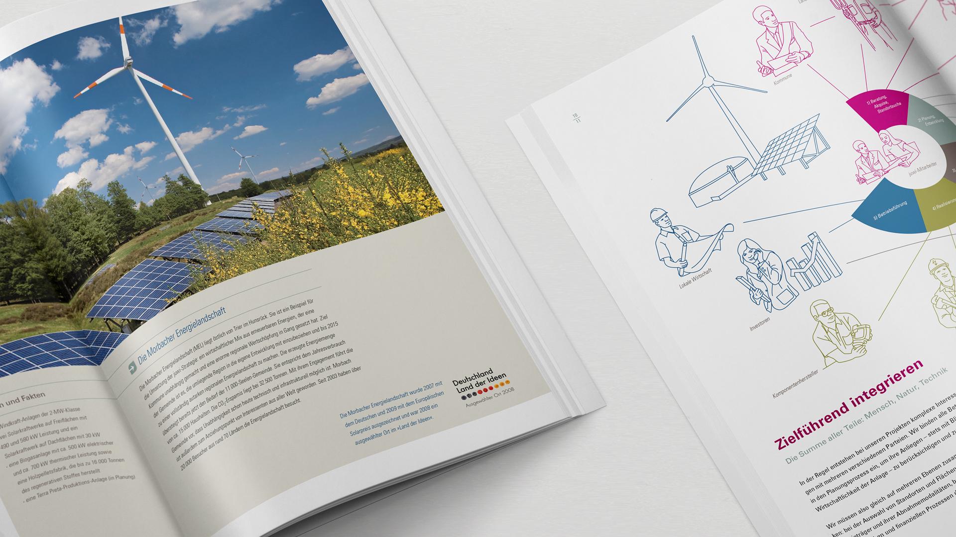 Juwi Broschüren mit Illustrationen
