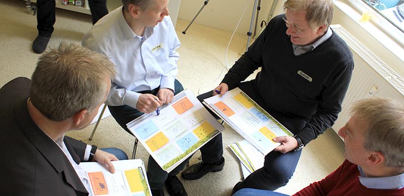 Innovationsworkshop Gruppenarbeit