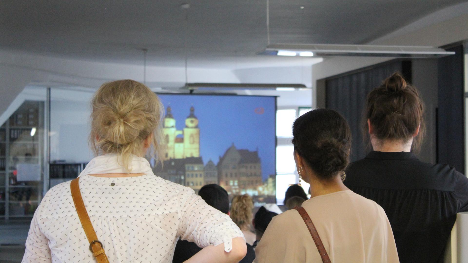 Projektpräsentation bei Agenturnachtschicht