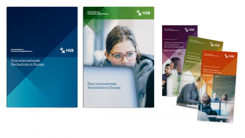HSB Designbeispiel Broschüren im Corporate Design