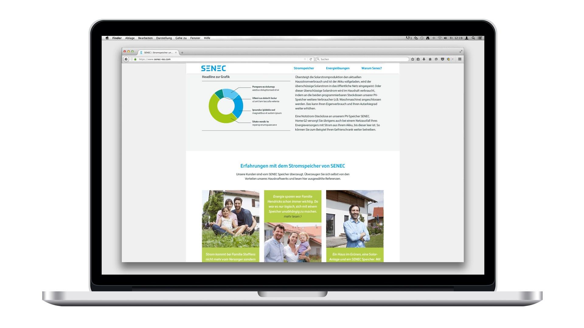 SENEC Digital - Testimonials und Infografiken