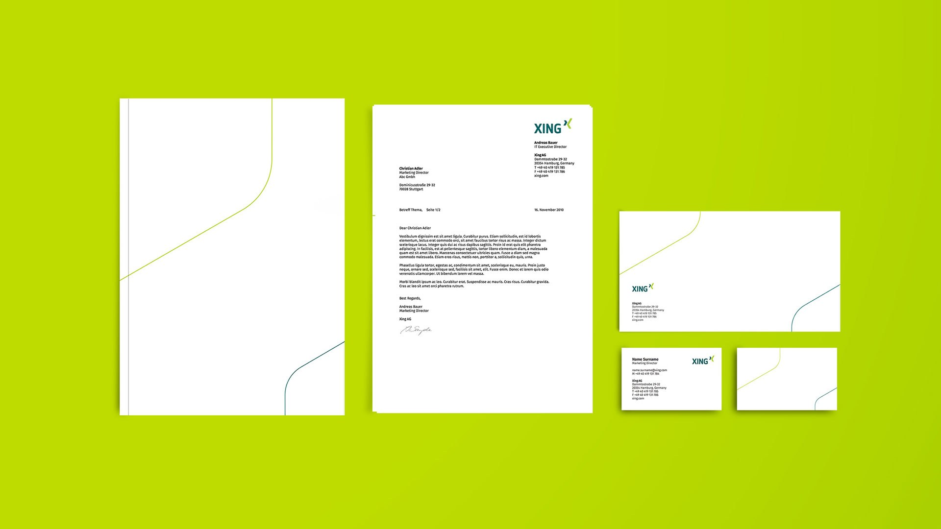 XING stationery