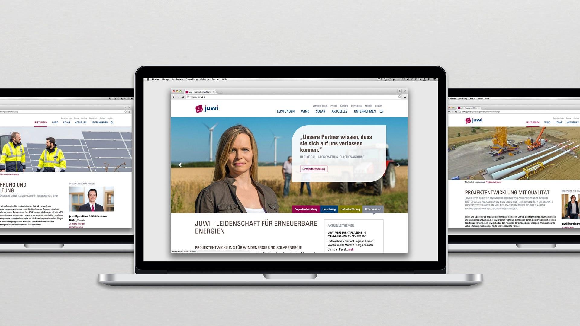 Juwi Corporate Design Website