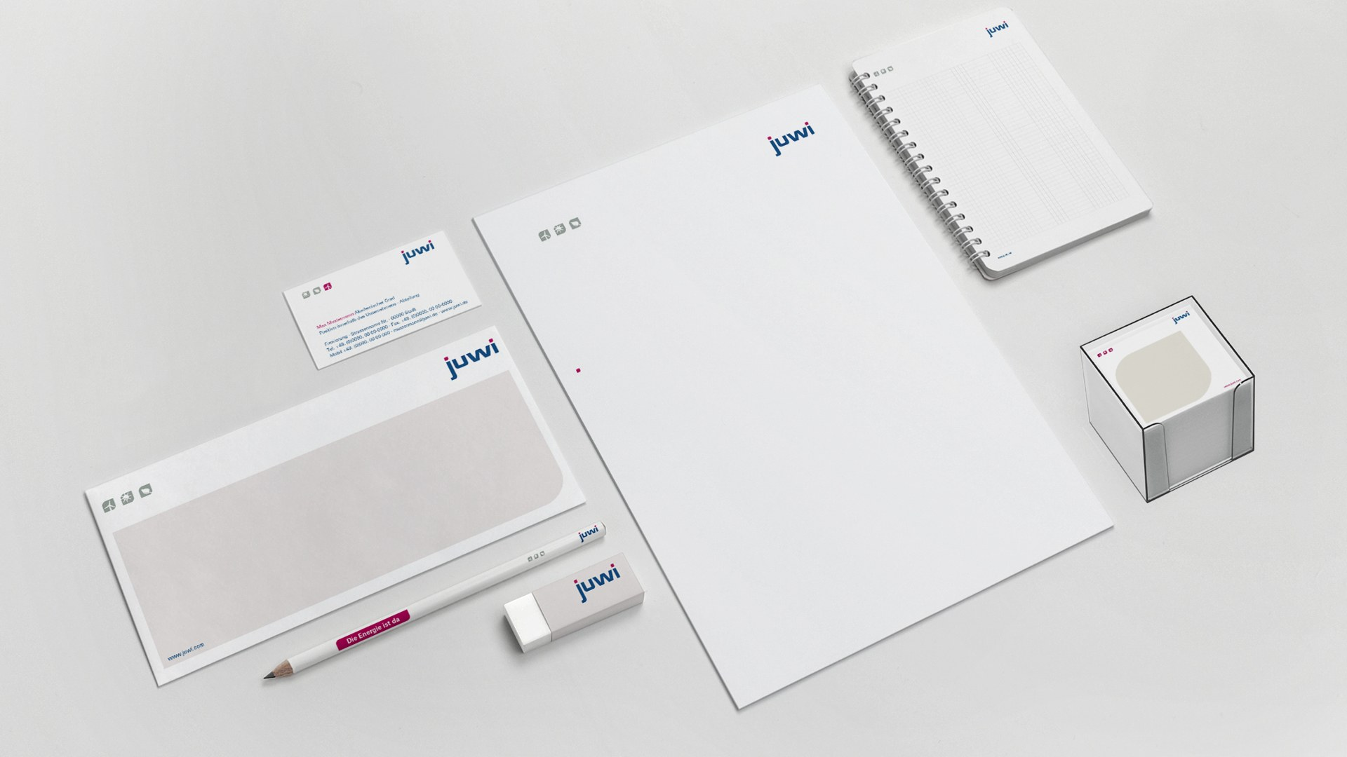 Juwi Corporate Design Geschäftsausstattung